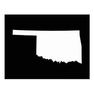 Oklahoma in White and Black Postcard