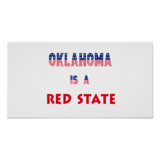 Oklahoma is a Red State Posters