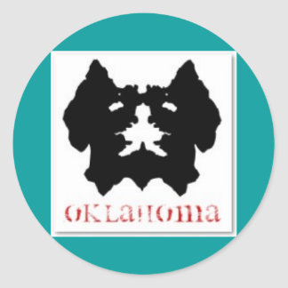 OKLAHOMA KIAMICHI MONSTER CLASSIC ROUND STICKER