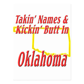 Oklahoma - Kickin' Butt Postcard