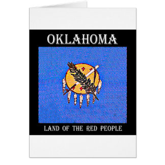 Oklahoma Land of the Red People Card