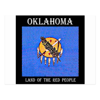 Oklahoma Land of the Red People Postcard
