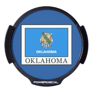 Oklahoma LED Window Decal