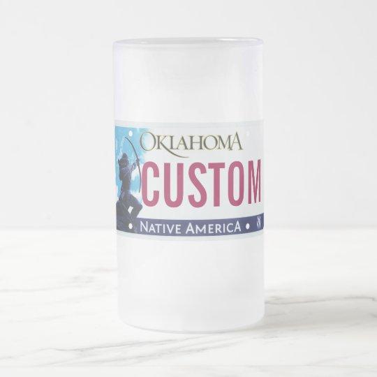 Oklahoma license plate mug