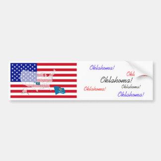 Oklahoma, los E.E.U.U. Pegatina De Parachoque