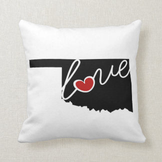 Oklahoma Love!  Gifts for OK Lovers Pillows