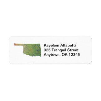 Oklahoma Map Address Label