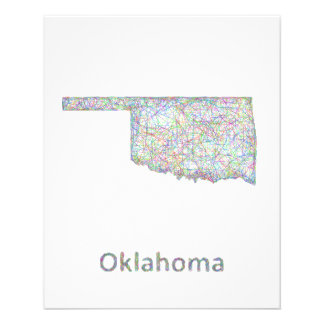 Oklahoma map flyer