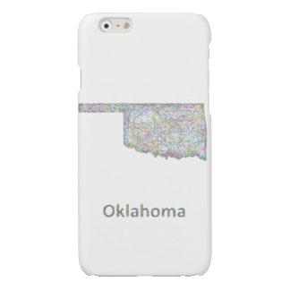Oklahoma map glossy iPhone 6 case