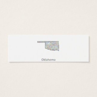 Oklahoma map mini business card
