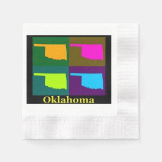 Oklahoma Map Paper Napkin