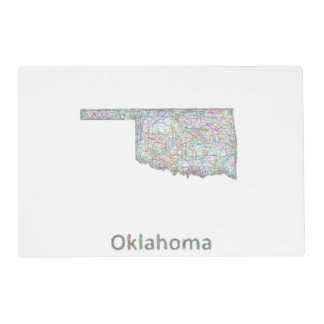 Oklahoma map placemat