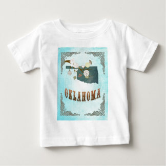Oklahoma Map With Lovely Birds T-shirt