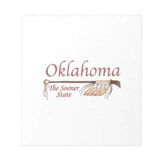 Oklahoma más pronto el estado bloc de notas