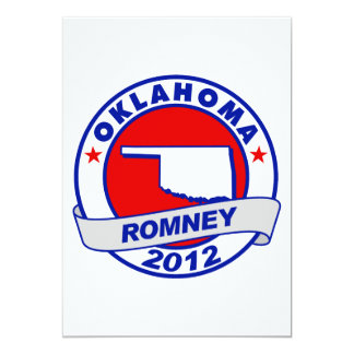 Oklahoma Mitt Romney Invitación 12,7 X 17,8 Cm