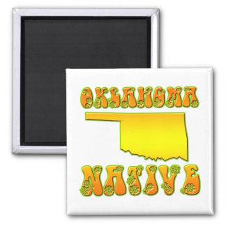 Oklahoma Native 2 Inch Square Magnet