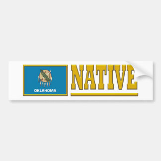 Oklahoma Native Car Bumper Sticker