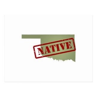 Oklahoma Native with Oklahoma Map Postcard