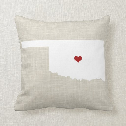 Should I Throw Away Old Pillows : Oklahoma New Home State Throw Pillow 16