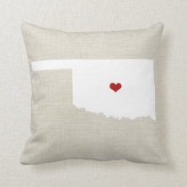"Oklahoma New Home State Throw Pillow 16"" x 16"""