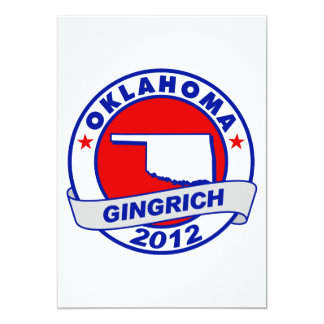 Oklahoma Newt Gingrich Card