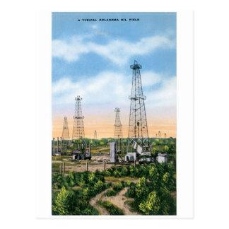 Oklahoma Oil Field Postcard