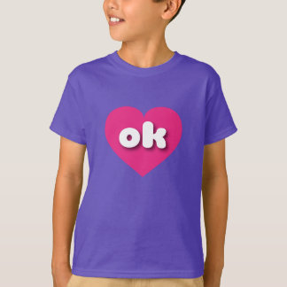 Oklahoma ok hot pink heart T-Shirt