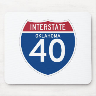 Oklahoma OK I-40 Interstate Highway Shield - Mouse Pad