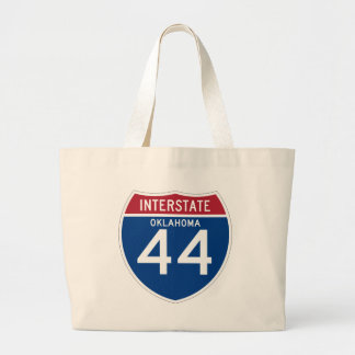 Oklahoma OK I-44 Interstate Highway Shield - Large Tote Bag