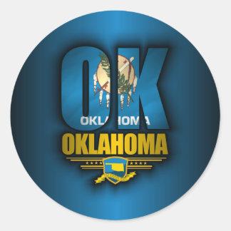 Oklahoma (OK) Etiqueta Redonda