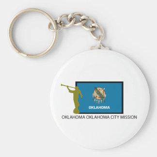 OKLAHOMA OKLAHOMA CITY MISSION LDS CTR BASIC ROUND BUTTON KEYCHAIN