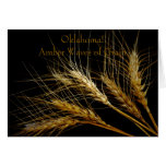 ¡Oklahoma! Ondas ambarinas del grano Tarjeta De Felicitación