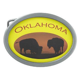 Oklahoma Oval Belt Buckle