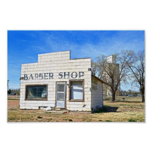 Oklahoma Panhandle Barber Shop Poster