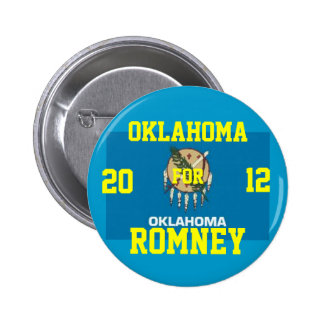 Oklahoma para Romney 2012 Pin Redondo De 2 Pulgadas
