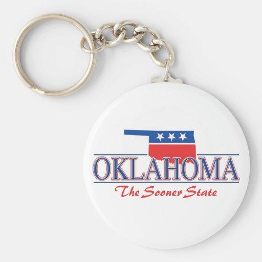 Oklahoma Patriotic Keychain