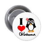 Oklahoma Penguin - I Love Oklahoma Pins