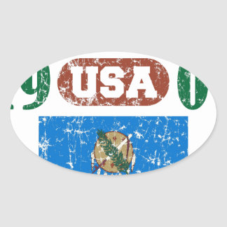 OKLAHOMA PERFECT TOGETHER DISTRESSED PRODUCTS OVAL STICKER