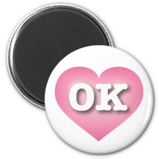 Oklahoma Pink Fade Heart - Big Love Magnet