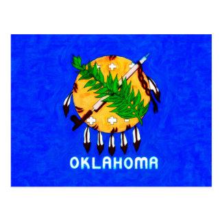 Oklahoma pintó productos de la bandera tarjeta postal