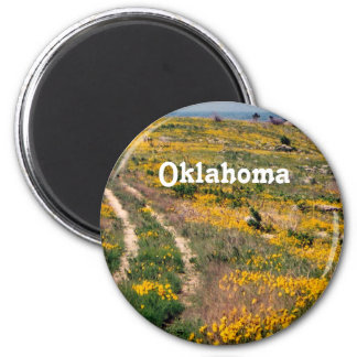 Oklahoma Prairie 2 Inch Round Magnet