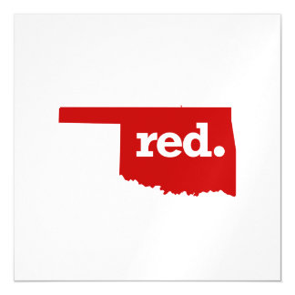 OKLAHOMA RED STATE MAGNETIC CARD