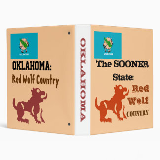 """OKLAHOMA """"Red Wolf Country"""" SOONER STATE Binder"""
