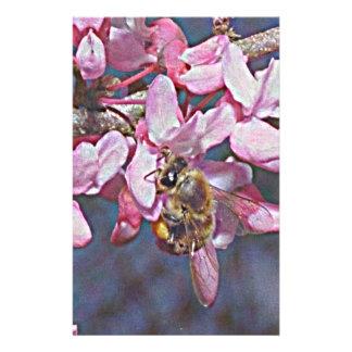 Oklahoma Redbud and Honeybee Stationery