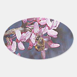 Oklahoma Redbud Oval Sticker