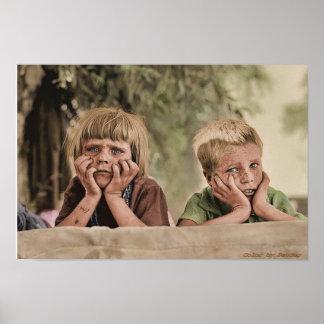 Oklahoma Refugee Children 1936 Poster
