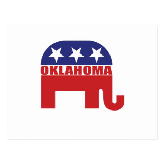 Oklahoma Republican Elephant Postcard