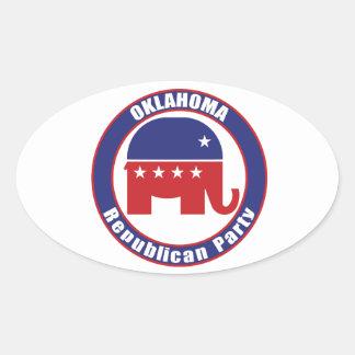 Oklahoma Republican Party Oval Sticker