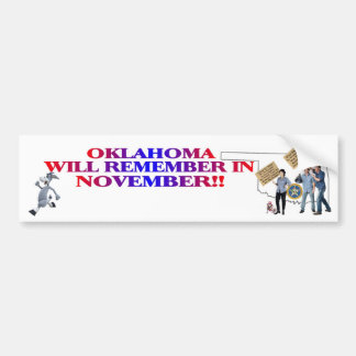 Oklahoma - Return Congress To The People!! Bumper Sticker