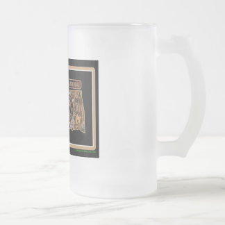 Oklahoma Rig Up Camo Frosted Glass Beer Mug